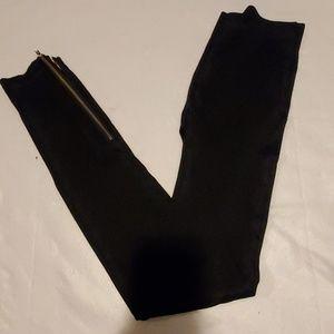 INC Black Ankle Zip Leggings Womens Medium